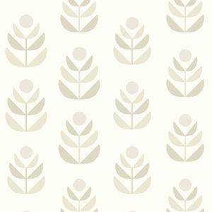 Oslo Beige Geometric Tulip Wallpaper 2535-20619
