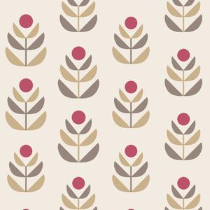 Oslo Red Geometric Tulip Wallpaper 2535-20620