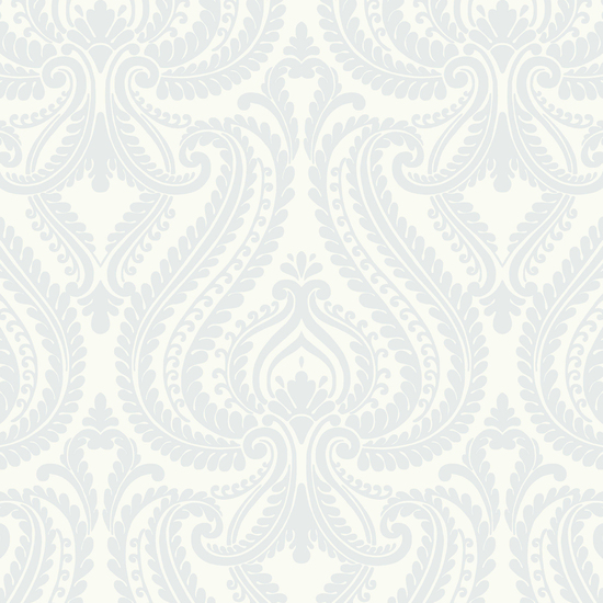 Imperial Blue Modern Damask Wallpaper 2535-20621