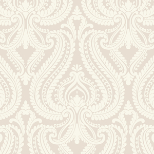 Imperial Grey Modern Damask Wallpaper 2535-20622