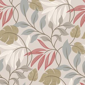 Eden Grey Modern Leaf Trail Wallpaper 2535-20626