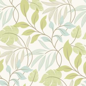Eden Green Modern Leaf Trail Wallpaper 2535-20627