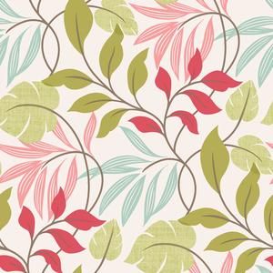 Eden Pink Modern Leaf Trail Wallpaper 2535-20629