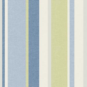 Raya Blue Linen Stripe Wallpaper 2535-20635