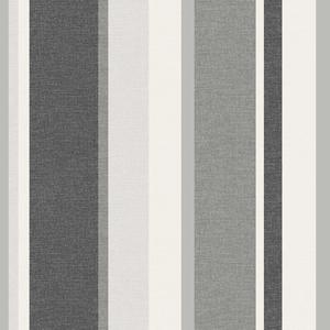 Raya Black Linen Stripe Wallpaper 2535-20636