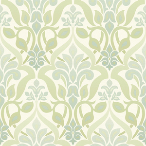 Fusion Green Ombre Damask Wallpaper 2535-20643