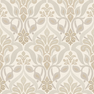 Fusion Grey Ombre Damask Wallpaper 2535-20644