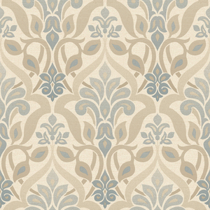 Fusion Blue Ombre Damask Wallpaper 2535-20646