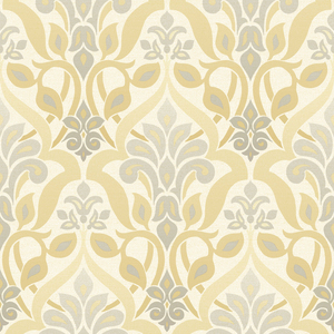 Fusion Yellow Ombre Damask Wallpaper 2535-20647