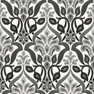 Fusion Black Ombre Damask Wallpaper 2535-20648