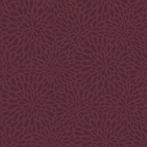 Calendula Maroon Modern Floral Wallpaper 2535-20663