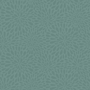 Calendula Teal Modern Floral Wallpaper 2535-20665