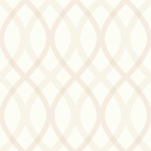 Contour Beige Geometric Lattice Wallpaper 2535-20666