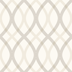 Contour Grey Geometric Lattice Wallpaper 2535-20667