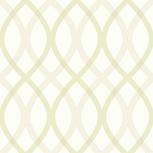 Contour Green Geometric Lattice Wallpaper 2535-20669