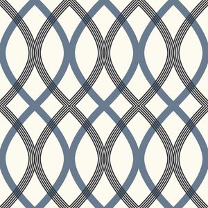 Contour Blue Geometric Lattice Wallpaper 2535-20670