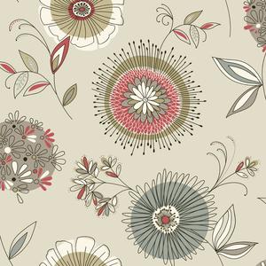 Maisie Grey Floral Burst Wallpaper 2535-20675
