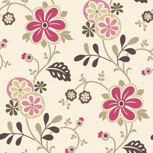 Amelie Pink Modern Floral Trail Wallpaper 2535-20676