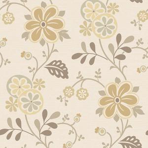 Amelie Beige Modern Floral Trail Wallpaper 2535-20679