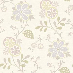 Amelie Purple Modern Floral Trail Wallpaper 2535-20680