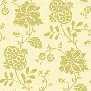 Amelie Green Modern Floral Trail Wallpaper 2535-20681