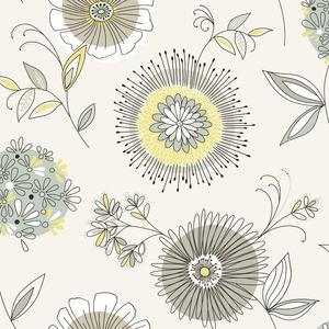 Maisie Green Floral Burst Wallpaper 2535-20682