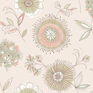 Maisie Beige Floral Burst Wallpaper 2535-20683
