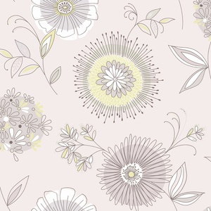 Maisie Purple Floral Burst Wallpaper 2535-20684