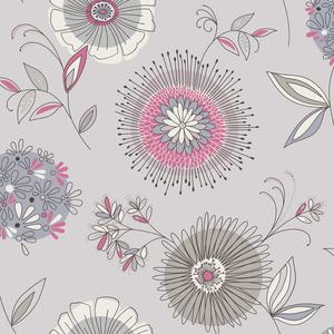 Maisie Blue Floral Burst Wallpaper 2535-20685