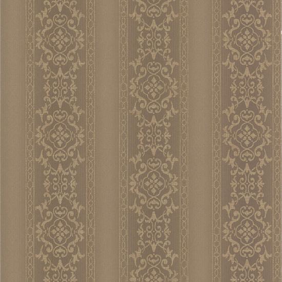 Camden Brass Ornate Stripe Wallpaper 990-65001