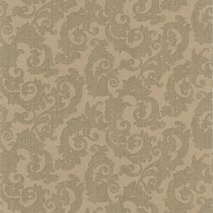Fulham Olive Scrolls Wallpaper 990-65005