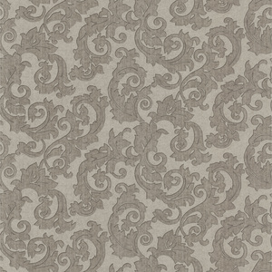 Fulham Silver Scrolls Wallpaper 990-65009
