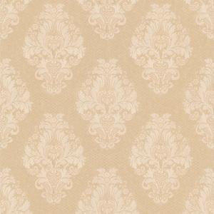 Bromley Peach Satin Damask Wallpaper 990-65011