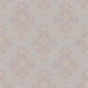 Bromley Mauve Satin Damask Wallpaper 990-65013