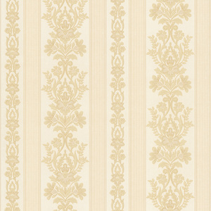 Kensington Beige Damask Stripe Wallpaper 990-65018