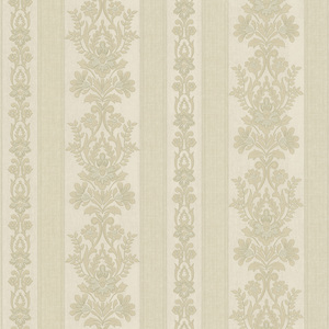 Kensington Light Green Damask Stripe Wallpaper 990-65019