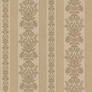 Kensington Brass Damask Stripe Wallpaper 990-65020