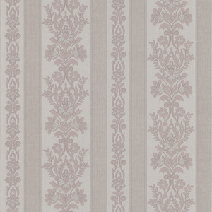 Kensington Mauve Damask Stripe Wallpaper 990-65021