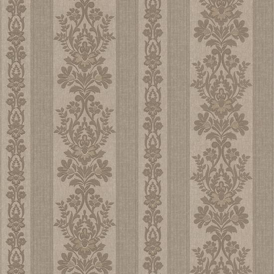 Kensington Pewter Damask Stripe Wallpaper 990-65022