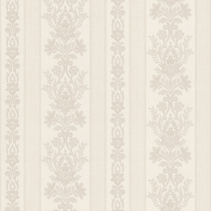 Kensington Off-White Damask Stripe Wallpaper 990-65023