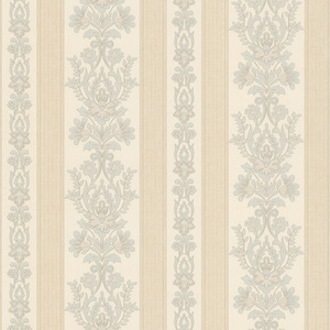 Kensington Light Blue Damask Stripe Wallpaper 990-65024