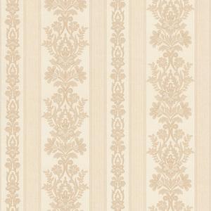 Kensington Pearl Damask Stripe Wallpaper 990-65025