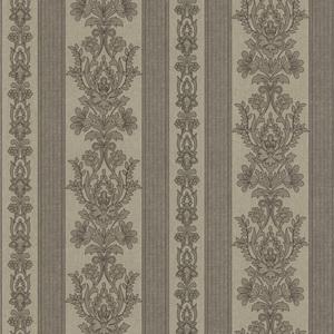 Kensington Grey Damask Stripe Wallpaper 990-65026