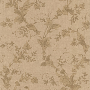 Thames Brass Leafy Scroll Wallpaper 990-65027