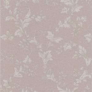 Thames Mauve Leafy Scroll Wallpaper 990-65028