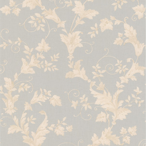 Thames Light Grey Leafy Scroll Wallpaper 990-65033