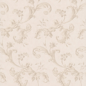 Isleworth Taupe Floral Scroll Wallpaper 990-65038