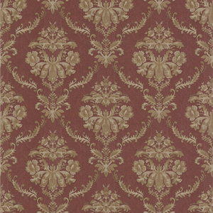 Westminster Burgundy Damask Wallpaper 990-65047