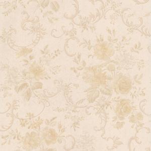 Highbury Cream Floral Scroll Wallpaper 990-65049
