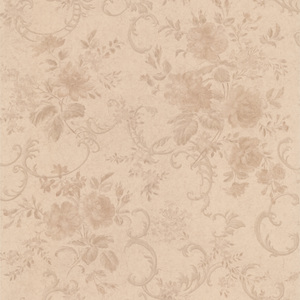 Highbury Champagne Floral Scroll Wallpaper 990-65050